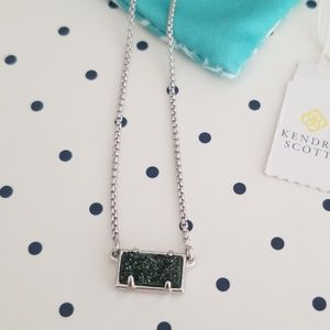 Kendra Scott emerald green druzy Pattie